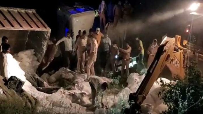 Accident in auraiya, 20 migrant labourers lost their lives - India TV